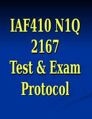 IAF410 N1A 2171 Test & Exam protocol.ppt
