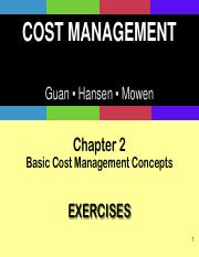 Ch02_Basic Cost Management Concepts PPT - EXERCISES EXTRA SOLUTIONS STUDENTS.pdf