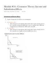 Module 54 - Consumer Theory Income and Substitution Effects (1).pdf