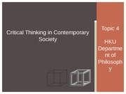 Critical Thinking 2014_15 SEM 1 Lecture 07