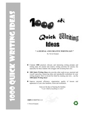 1000 Quick Writing Ideas