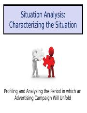 Class Notes G Situation Analysis Characterizing the Situation.ppt