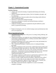 Chapter 2 – Organizational Learning.docx