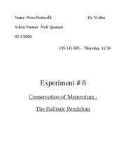 Lab8 - Conservation Of Momentum