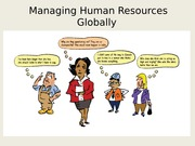 Managing Human Resources Globally