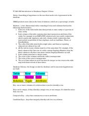 IT 240-820 Introduction to Databases Chapter 2 Notes.docx