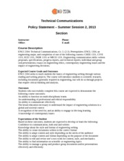 Policy Statement SS2, 2013
