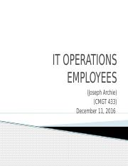 IT Operations employees Complete
