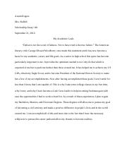 Scholarship Essay/ Honors English 101