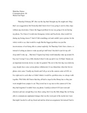 Essay on Media Fast