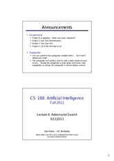 FA11 cs188 lecture 6 -- adversarial search (2PP)