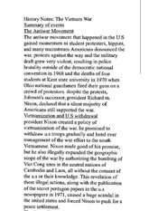 history classnote: the vietnam war: summary of events: the antiwar movement