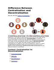 Difference Between Centralization and Decentralization.docx