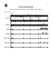 jong jong inai (latest) - 1 jong jong inai score created with the free  version of flat https\/flat.io nabila farhana = 80 piano xilofon bongo  rebana   course hero  course hero
