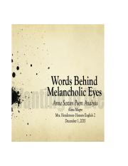 Words Behind Melancholic Eyes Project.docx