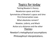 PHYS 419 Newton Review Lecture