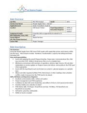 1041 - People Supply Chain PMO Analyst