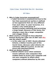 Video-Cybercrime World Wide War-Questions.docx