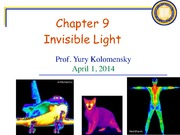 Physics for Future Presidents Fall 2012 Ch. 9 Invisible Light Lecture