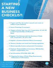 bizfile checklist starting a new business checklist 1 prepare and