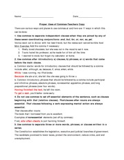 Commas lesson plan-teacher copy