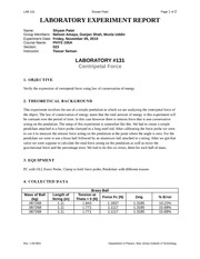 Phys Lab 131 Report