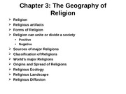 CD Chapter 3 Geography of Religion