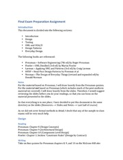 Final Exam Preparation Assignment