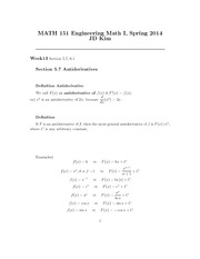 Week 13 Lecture on Engineering Math 1