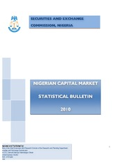 SEC Nigeria statitical bulletin 2010