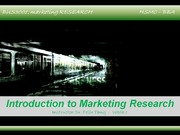 Week 1 -Introduction & Ethical Issues in Marketing Research
