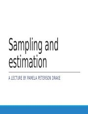Lecture 5 Sampling and estimation (Chapter 6).pptx
