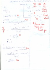 Application of Differential Calculus