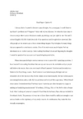 thought paper alysha gray professor marcey abnormal 3 pages english 302 final paper