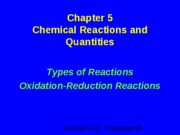 Types of Reactions