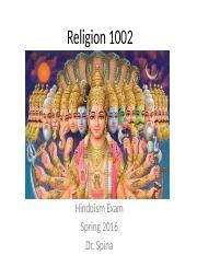Religion 1002 Final Review