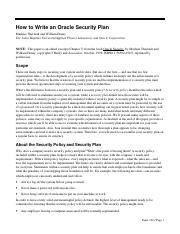 How to Write an Oracle Security Plan.pdf