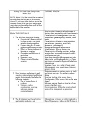 History 201 Final Exam Study Guide