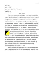 ENG 200H - Watchmen Analysis