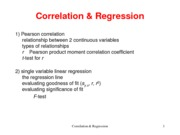 Week 9 Correlation Regression Lecture Notes