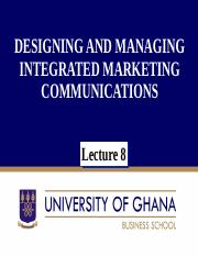 Principles of Marketing Lecture 8 & 9
