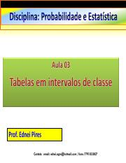 aula 03 - Tabela em intervalo de classes - Copia