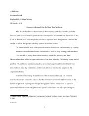 Short Research Essay Outline