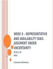 Week 9 – Representative and Availability Bias (1).pptx