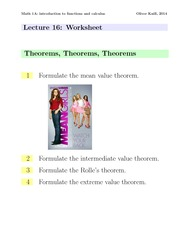 Math1a Spring 2014 Lecture 16 Worksheet