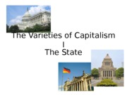 The Varieties of Capitalism I