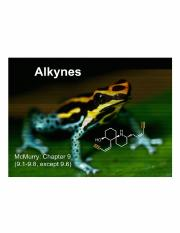 Lecture 5 - Alkynes