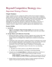 Beyond Competitive Strategy Other Important Strategy Choices