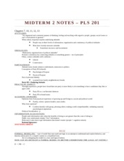 Midterm 2 Notes