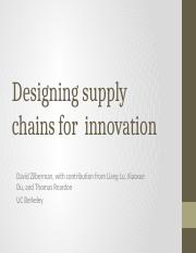 EEP 141 - Lecture 5 - Modeling Supply Chains